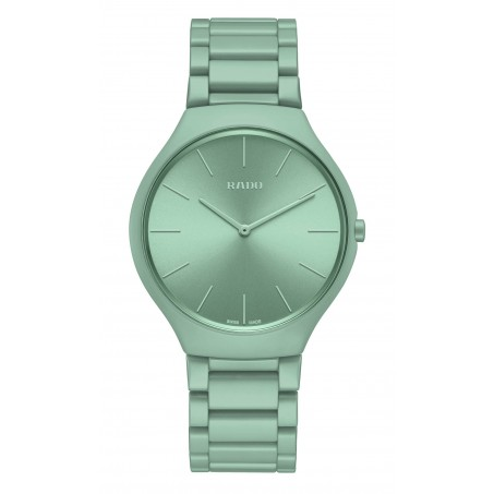 Rado - True Thinline Les Couleurs™ Le Corbusier Slightly greyed English green 32041  R27096662 Uhr