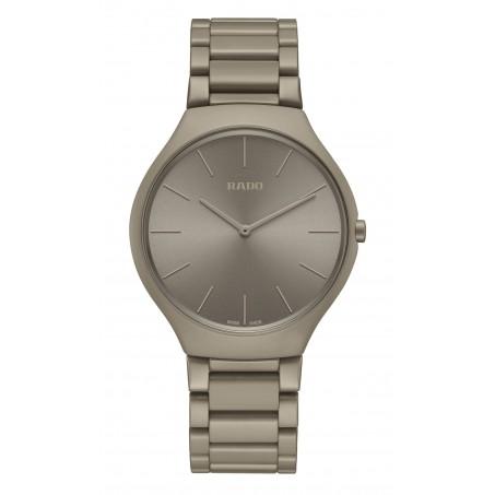 Rado - True Thinline Les Couleurs™ Le Corbusier Grey brown natural umber 32141 R27098682 Uhr