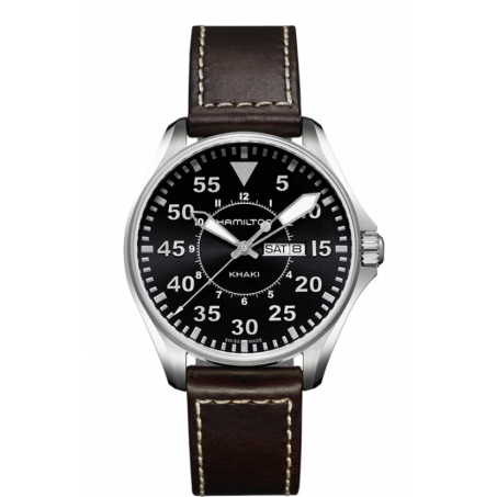 Hamilton - Khaki Aviation Pilot Day Date Quartz H64611535 Uhr