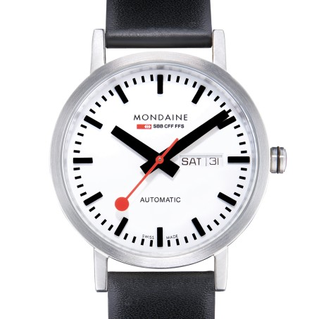 Mondaine - Classic Automatic Day Date 40mm A132.30359.16SBB Uhr