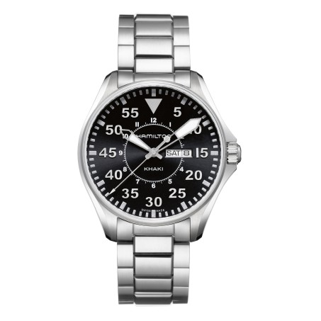 Hamilton - Khaki Aviation Pilot Day Date Quartz H64611135 Uhr