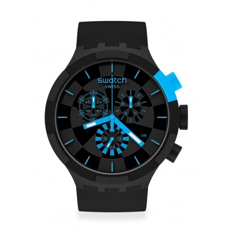 Swatch - Originals Big Bold Chrono CHECKPOINT BLUE SB02B401 Uhr