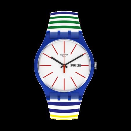 Swatch - Originals New Gent HOME STRIPE HOME SUON715 Uhr