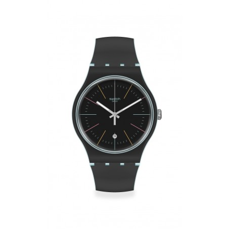 Swatch - Originals New Gent BLACK LAYERED SUOS402 Uhr