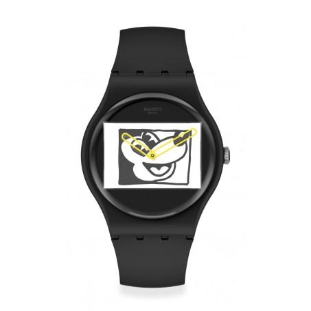 Swatch - Originals New Gent MICKEY BLANC SUR NOIR SUOZ337 Uhr
