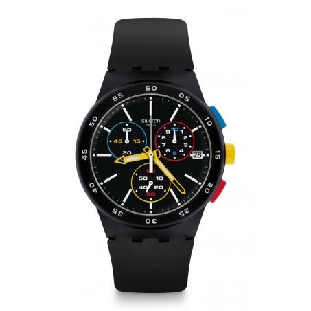 Swatch - Originals Chrono Plastic BLACK-ONE SUSB416 Uhr