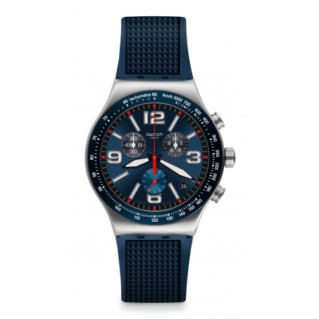 Swatch - Irony New Chrono BLUE GRID YVS454 Uhr