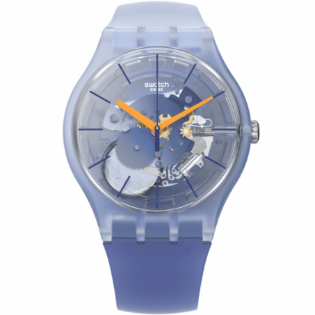 Swatch - Originals New Gent Lacquered ALL THAT BLUES SUOK150 Uhr