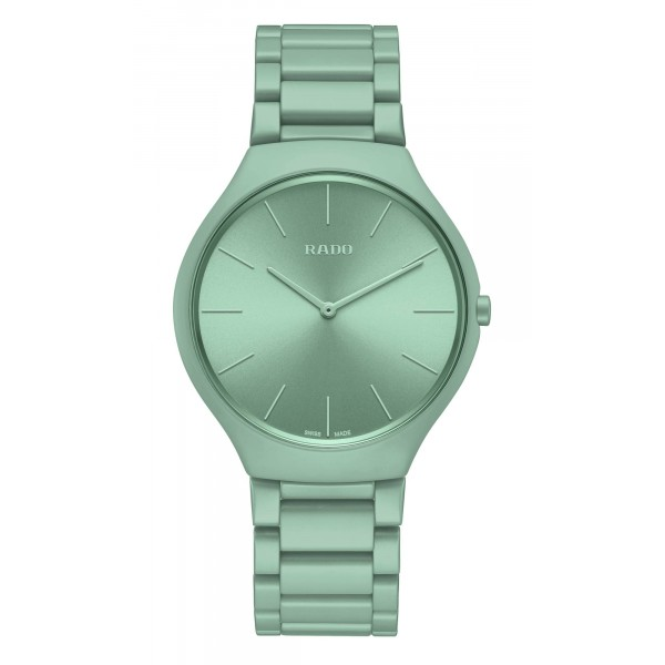 Rado - True Thinline Les Couleurs™ Le Corbusier Slightly greyed English green 32041