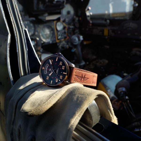 Hamilton - Khaki Aviation Day Date Auto
